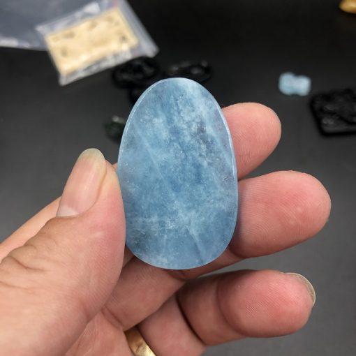Mặt phật A Di Đà đá Aquamarine CP614