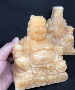 Bộ thần tài thổ địa đá Ngọc Hoàng Long 15cm CP634