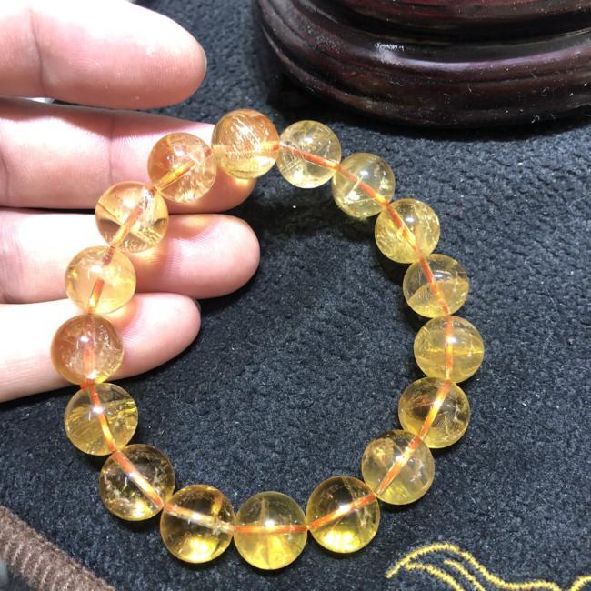 Vòng tay chuỗi hạt đá Thạch Anh vàng 12ly CP641