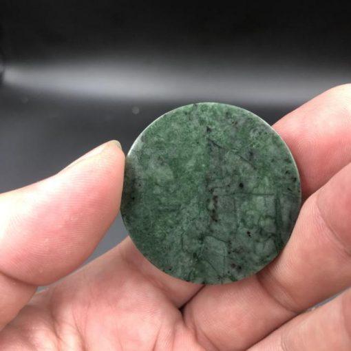 Mặt dây chuyền Cha Trương Bửu Diệp đá serpentine xanh Ấn Độ CP661