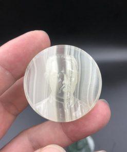 Mặt dây cha Trương Bửu Diệp đá Onyx Pakistan 4cm CP662