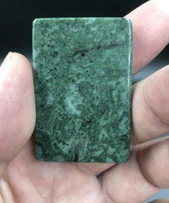 Mặt dây chuyền quan công cưỡi rồng đá Serpentine CP677