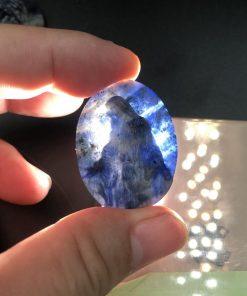 Mặt dây chuyền chúa Giesu phục sinh đá Sodalite 4cm CP692