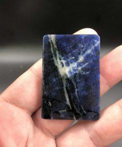 Mặt phật a di đà ngồi rồng đá Sodalite CP700