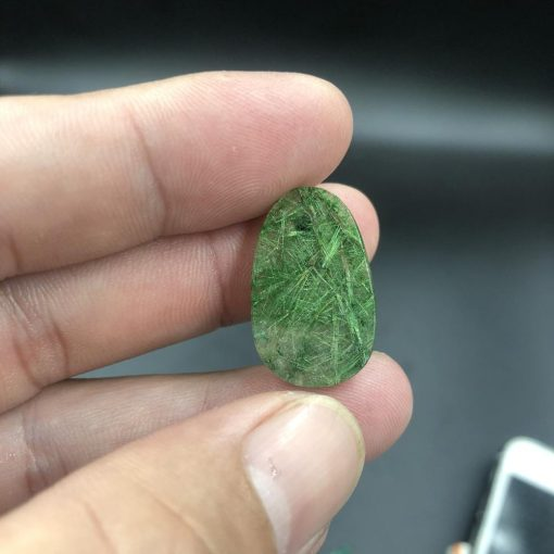 Mặt Phật Bản Mệnh Như Lai Đại Nhật đá thạch anh tóc xanh size nhỏ V520