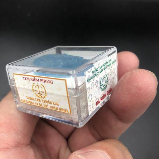 Mặt phật bản mệnh Bất Động Minh Vương đá Aquamarine size nhỏ V527