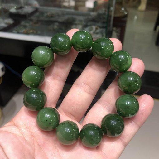 Vòng tay chuỗi hạt Ngọc Bích Nephrite V547