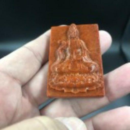 Mặt Phật Quan Âm Toạ Sen Ngọc Cẩm Thạch Huyết V572