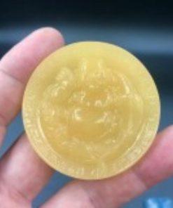 Mặt Phật Di Lặc Tròn đá Ngọc Hoàng Long V574